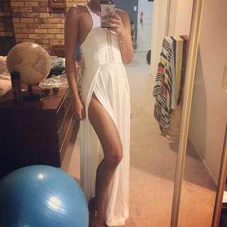 Maxi High Cut Dress Size 6