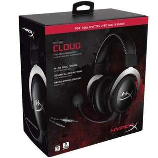 電競專用耳機🎧 Hyper XCloud Sliver Gaming Headset (HX-HSCL-SR/NA)