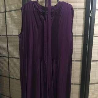 Uniqlo Maroon Dress w/ cloth belg