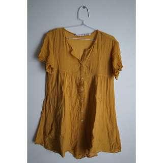 ZARA mustard jumpsuit