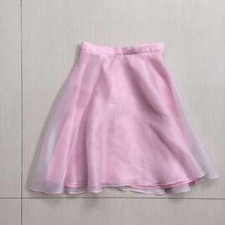 Pink organdi skirt