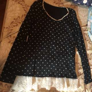 Franche lippee lace腳上衣