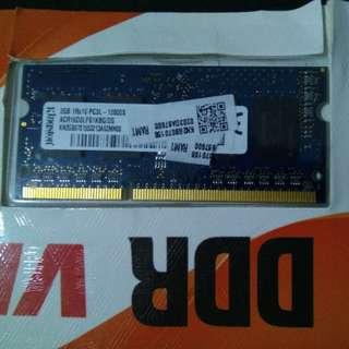 Ram Laptop / Notebook 2GB DDR3 Merek Kingston