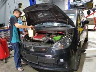 $38 car servicing with 5w40(10000km change interval)fully synthetics oil