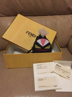 Fendi monster mini backpack Charm