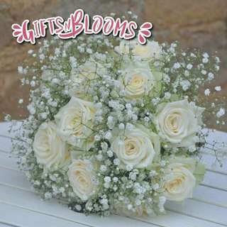 Fresh Flower Bouquet Surprise for Special Anniversary Birthday Gift V45 - QZVTI