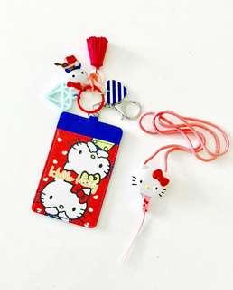 *instocks* Hello kitty keychain charm ID ezlink bus card holder lanyard