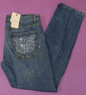 Denim Jeans (with Splatter & Crystal Stud Pockets)