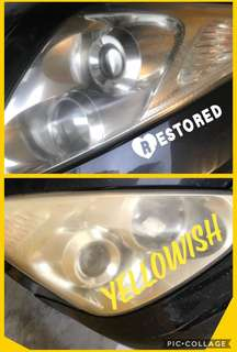 Headlight Restoration #clearasdiamond #savefuel #convenient