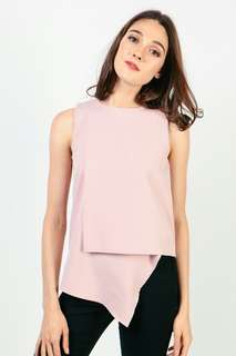 SALE: Dressabelle Asymmetric Top in Pink