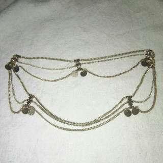 Hair gold chain