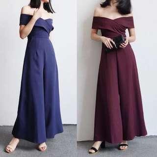 Asia Jumpsuit Word Shoulder Shoulder Sexy Dress Dress