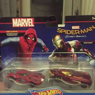 Preloved Hot Wheels Marvel edition (spiderman and ironman)