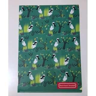 [全新] 濕地公園 黑臉琵鷺 雀鳥 A4 文件夾 Folder
