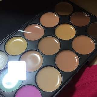 Cream colour correctors and contour palette