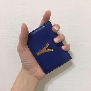 YSL 寶藍色卡夾