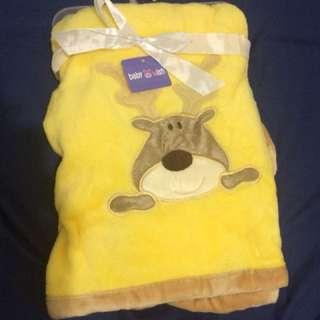 Baby & Wish Blanket Selimut bayi Moose Kuning