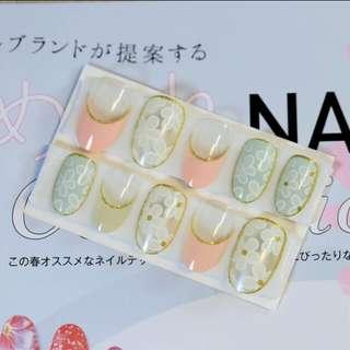 24 pcs floral fake nail tips (glue on type)