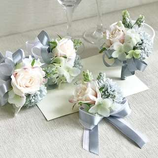 Wedding wrist corsage handmade