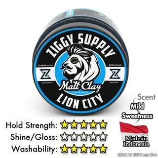 (Free mail) Ziggy Supply Lion City Matt Clay Pomade
