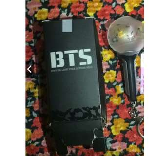 ON HAND BTS ARMY BOMB LIGHTSTICK KEYRING (DAMAGE BOX)