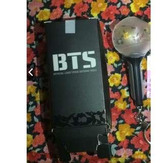 ON HAND BTS ARMY BOMB LIGHTSTICK KEYRING (DAMAGE BOX)