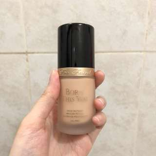 Too Faced Born This Way Foundation Shade Snow