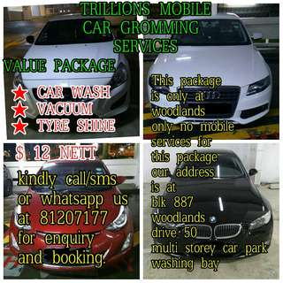 Car washing value package