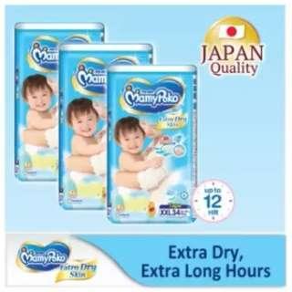 Mamypoko Extra Dry Skin Tape XXL34 (3 pack)