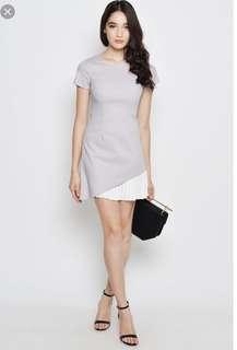 Pleated Dress Grey
