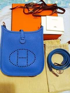 (可換袋)Hermes Mini Evelyne