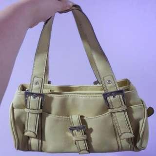 Yellow hand bag