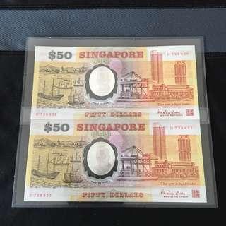2run (738620-738621) Polymer $50 Note
