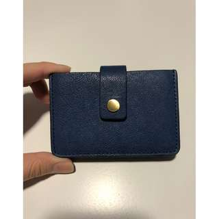 Fossil Cardholder in Blue & Green
