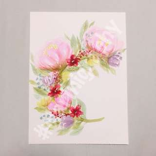 Watercolour Floral wreath
