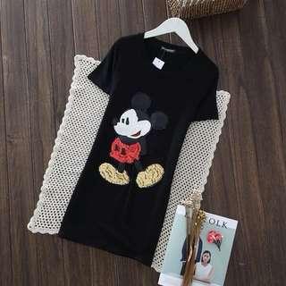 PO-Mickey Mouse long shirt - black