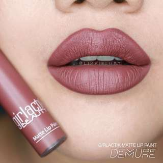 Girlactik long lasting matte lip paint liquid lipstick - DEMURE