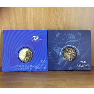 Two $5 commemorative cupro-nickel coins (sold together)