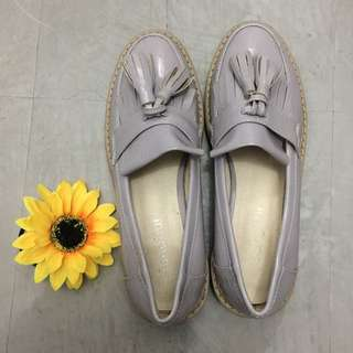Lavender Old style Loafer Shoes