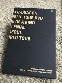 G-Dragon One of A Kind World Tour DVD