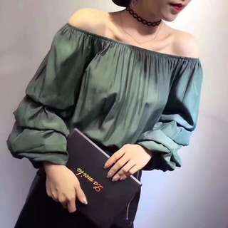 Amelia Ruffle Sleeve Off Shoulder Top