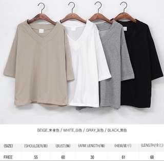 Oversize korean fashion top khaki