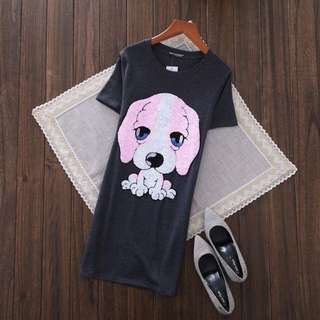 PO-Sweet Dog long shirt - dark gray