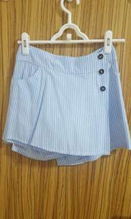 BN Blue Striped Skorts