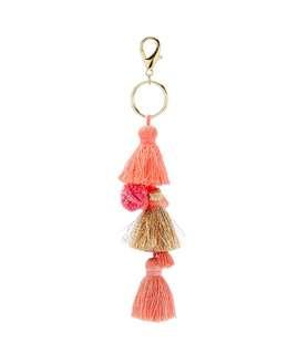 Pink Tassel Keyring / Bag Charm