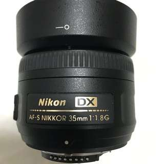 USED! Nikon 35mm F1.8g Auto Focus lens for sell