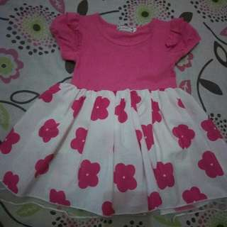 Pink Flower Dress Size 100 (skitaran 2th)