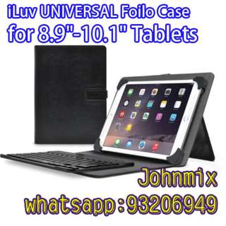 "買二送一 iLuv UNIVERSAL Foilo Case for Most 8.9""-10.1"" Tablets"