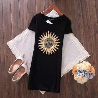 PO-Sunflower long shirt - black