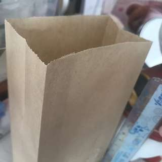 加厚牛皮紙袋 可放早餐 外賣 一包20個